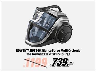 ROWENTA RO8366 Silence Force MultiCyclonic Toz Torbasız Elektrikli Süpürge 739TL