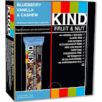 Kind Snacks Fruit & Nut Bar, Blueberry Vanilla & Cashew - 12 count, 1.4 oz box