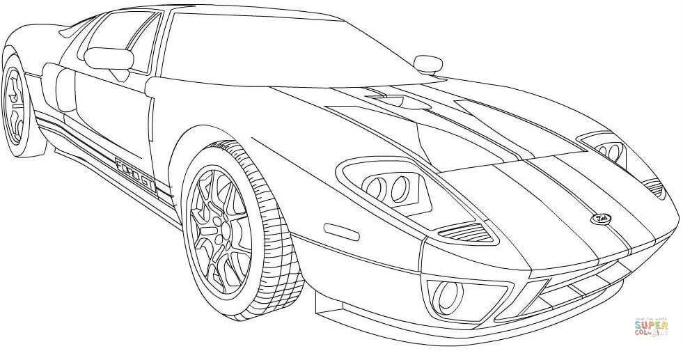 ford gt 2006 coloring page