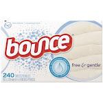 Procter & Gamble PGC24684 Bounce Free & Gentle Fabric Softener Dryer Sheets