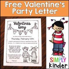 Valentine Parent Letter Free Editable   Valentine   Pinterest