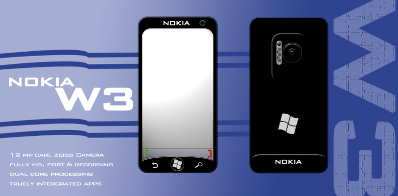 Nokia W3 is a Dual Core Windows Phone Mango Smartphone With 12MP Camera