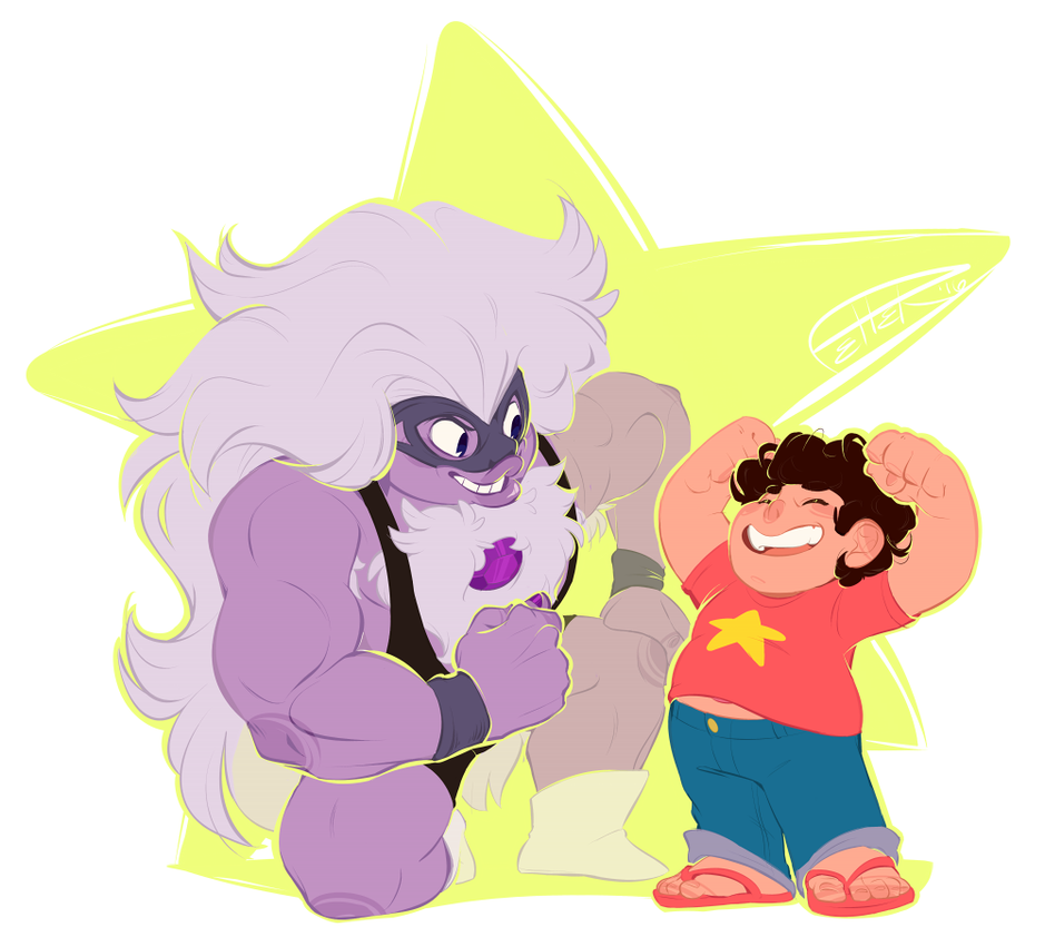 steb is STRONG this (as well as standalone steven) is available on redbubble! check out my steven universe folder www.redbubble.com/people/peppe… January 2016