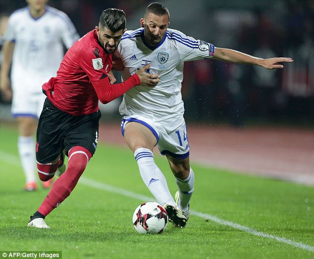 The venue of last weekend's qualifier between Israel and Albania was changed for 'security reasons' from the northern city of Shkoder, near the border with Montenegro