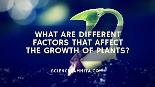 What are different factors that affect the growth of plants? - Science Samhita