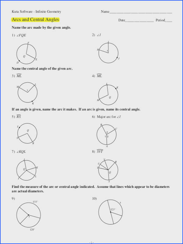 32 Inscribed Angles Worksheet Answer Key - Worksheet ...