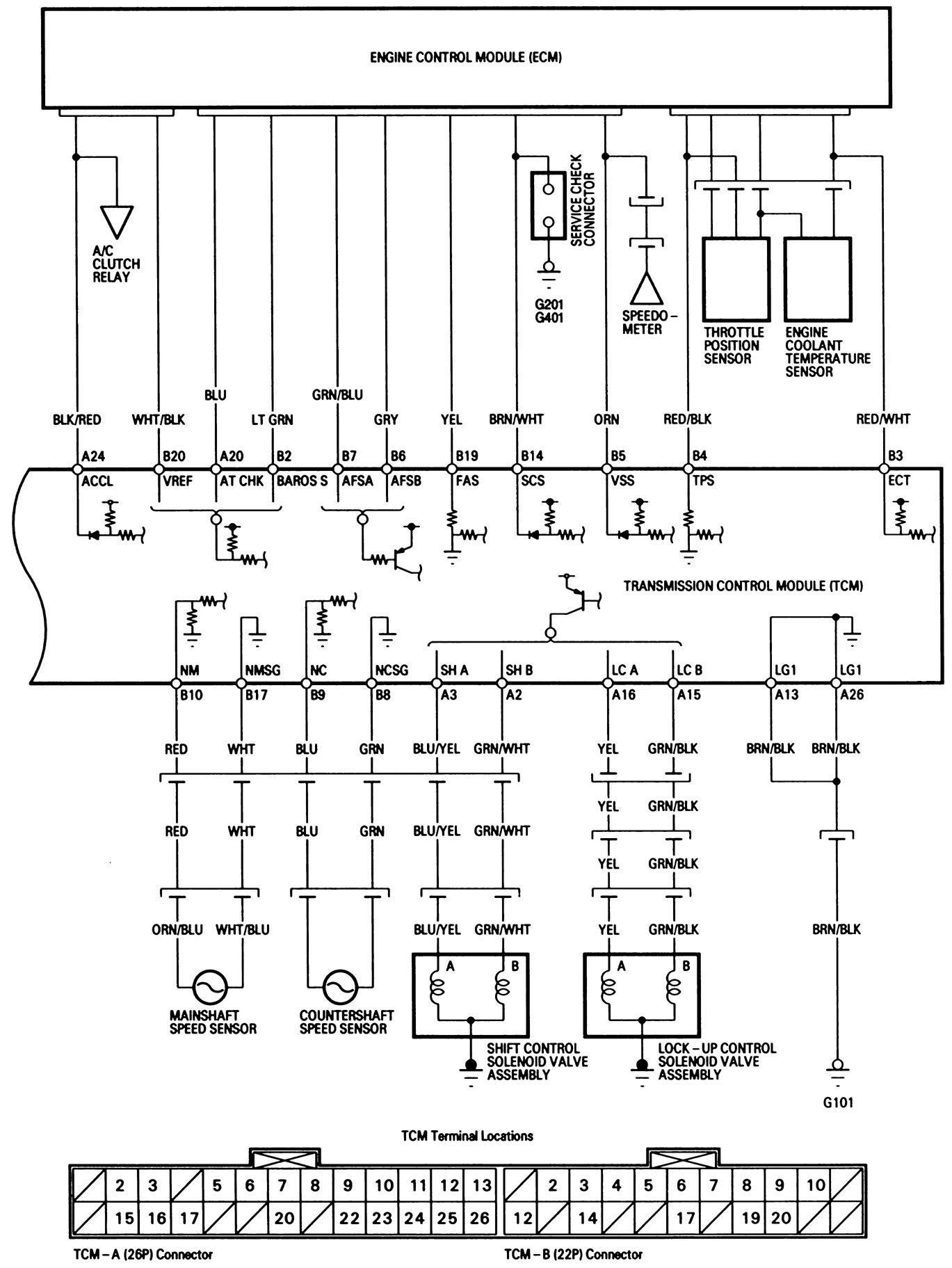 1991 Acura Integra Distributor Wire Diagram