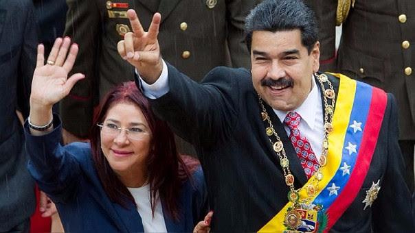 Nicolás Maduro y su mujer, Cilia Flores.