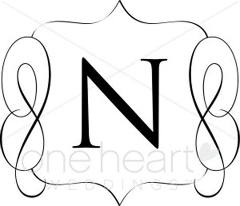 Classic Monogram N Clipart   Wedding Monograms
