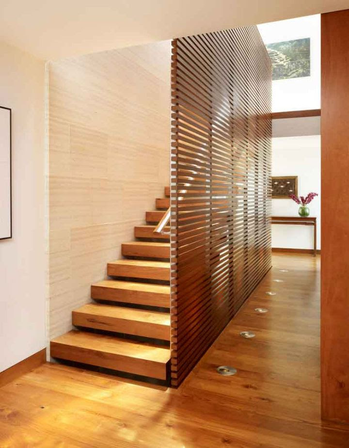 Wooden Staircase Designs For Small Space