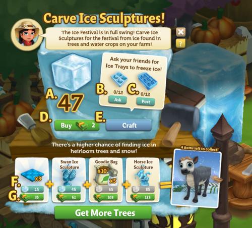 Carve Ice Sculptures - FarmVille 2