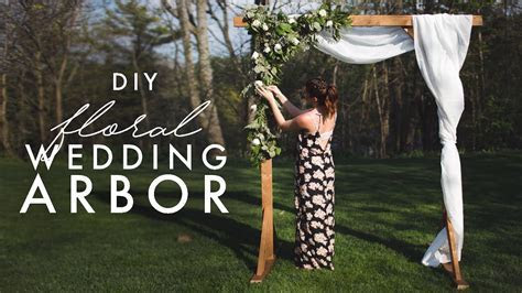 DIY WOODEN ARCH   PERFECT FOR WEDDINGS!   YouTube