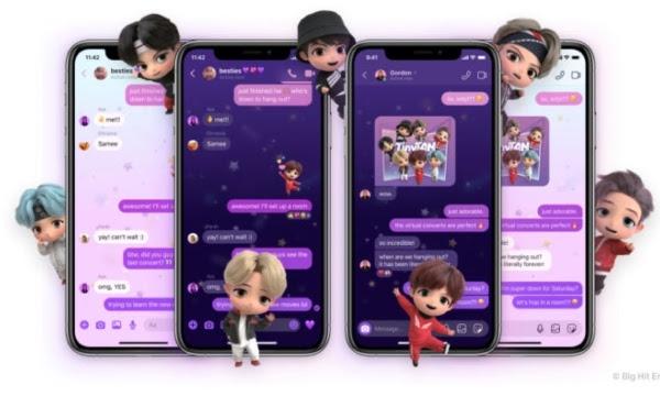 Nuevos temas Messenger e Instagram de BTS