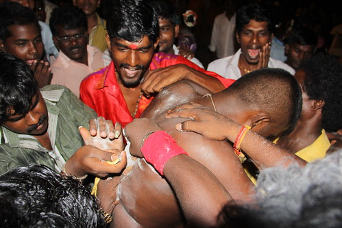 Inserting Hooks On Shanmughams Back - Marriammen Feast Madras Wadi 2013 by firoze shakir photographerno1