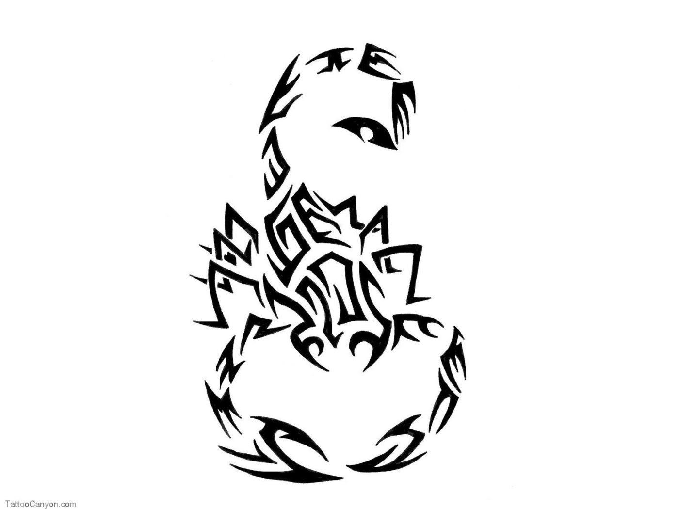 Tribal Scorpio Tattoo Design