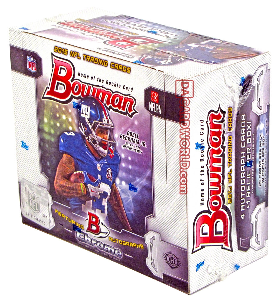 2015 Bowman Football Hobby Box  DA Card World