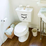 PilotMall.com The Bathroom Bomber Novelty Toilet Bowl Sticker Set