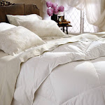 RESTFUL NIGHTS ALL-NATURAL DOWN COMFORTER Twin, Full/Queen or King - FULL/QUEEN White