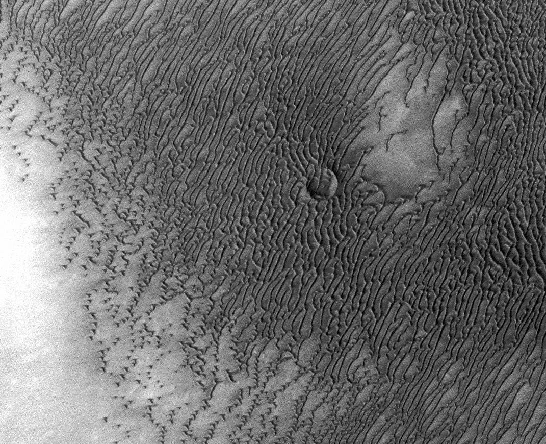 Dune field near Northern Polar Cap