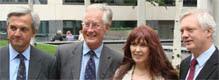 Chris Huhne Michael Meacher Janis Sharp mother of gary McKinnon and David Davis