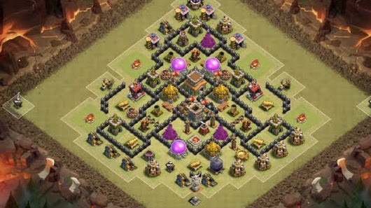 clash of clans layout cv 8 guerrawarep10 - Layout Cv 4 Guerra