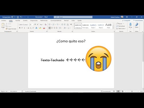 Tachado de texto en Microsoft Word (principiantes)