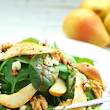 Roasted Pear and Blue Cheese Spinach Salad