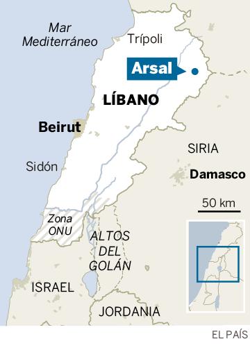 Localizador de Arsal, en el valle de la Bekaa, Líbano