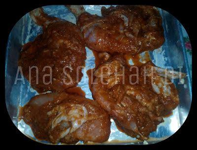 ayam bakar berempah sos pencicah menu berbuka