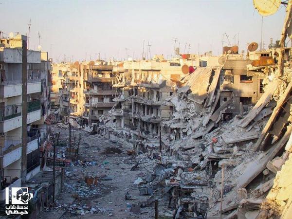 Alqusoor neighborbood in#Homs#Syriacourtesy @homsae