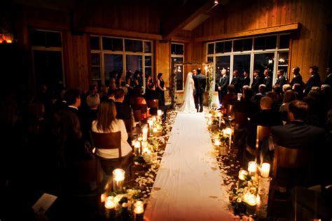 Winter Destination Wedding with Candleight CeremonyWinter