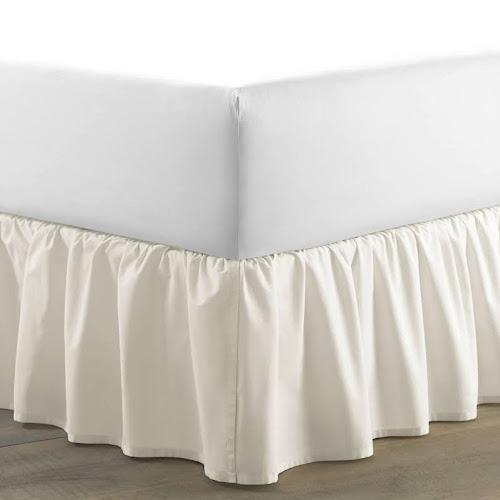 Laura Ashley Ivory Ruffled 15 Inch Drop Bedskirt King