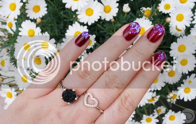 Glitter nailart nails hexagon holografic