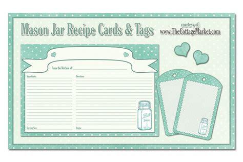 printable mason jar recipe cards  tags awesome