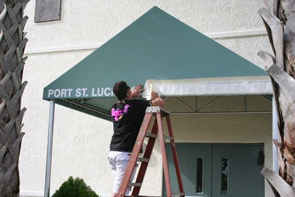 Custom Sign Awnings In Port St Lucie Fl