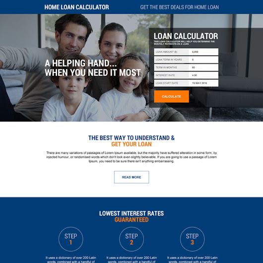 responsive home loan calculator landing page