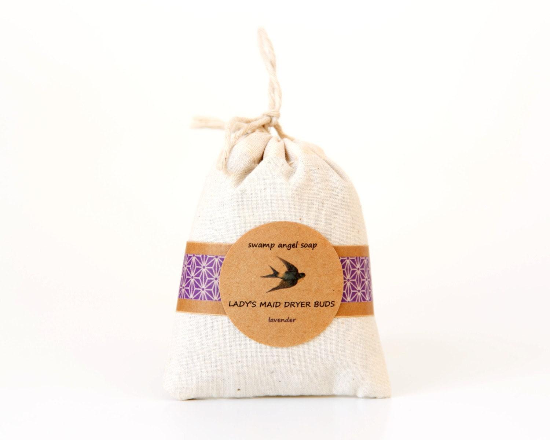Lady's Maid Dryer Buds // Natural Dryer Sheet // Organic Lavender Buds // Sachet