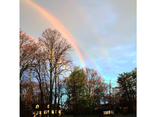 Quadruple Rainbow Spotted in Glen Cove
