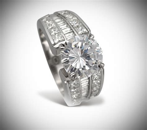 Christopher Designs 18 karat white gold and diamond wide