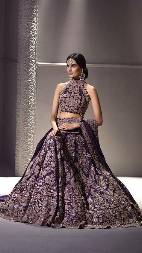 Purple lengha by Umar Sayeed   Style   Indian wedding
