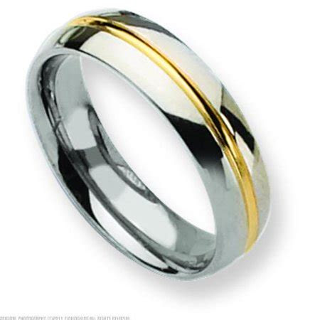 findingking titanium  gold mm mens wedding ring band