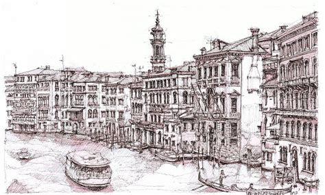 venice canals  italia drawing  building art