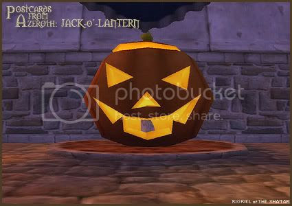 Postcards of Azeroth: Jack-o'-Lantern, by Rioriel Ail'thera