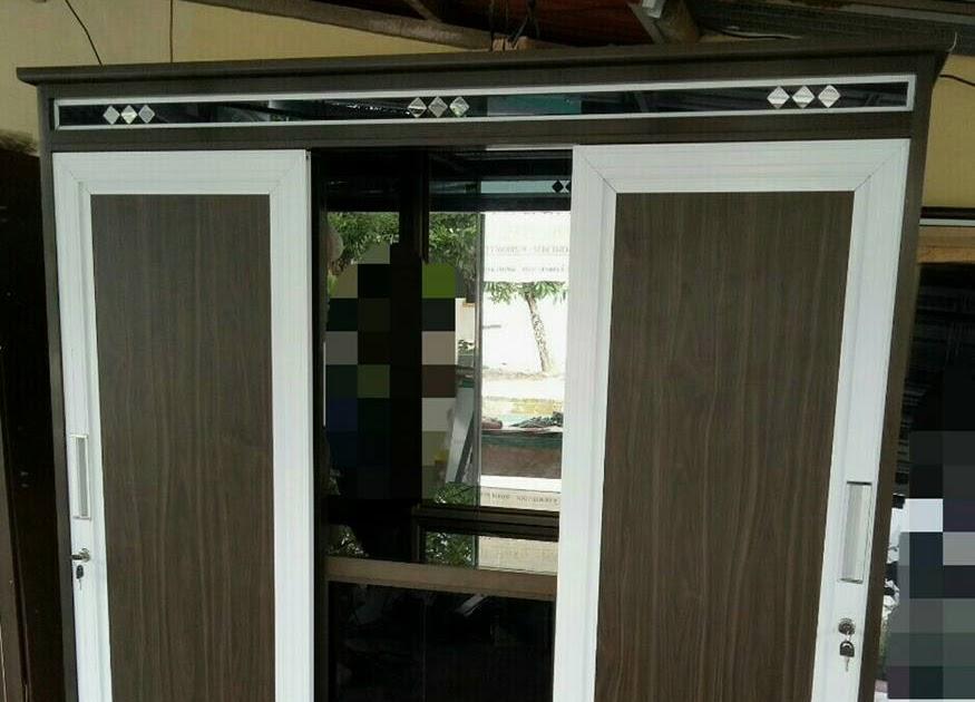 Contoh Gambar Plafon Pvc  76 gambar desain lemari aluminium depok terkini model lemari
