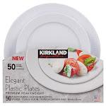 Kirkland Signature Elegant Plastic Plates, 50-Count