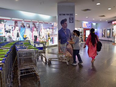 A deserted shopping mall at Ghaziabad. PTI