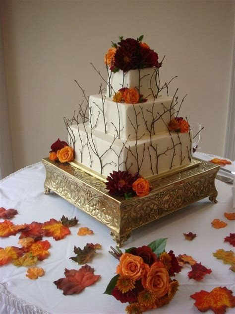 137 best images about Fall Wedding Cakes on Pinterest