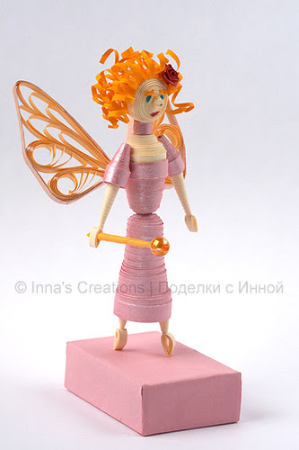 Red haired fairy. 3D quilling