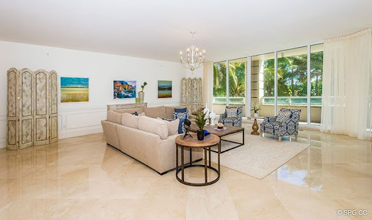 Residence 204 For Sale at Bellaria, Luxury Oceanfront Condominiums in Palm Beach, Florida 33480.
