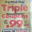 Starts Today: Triple Coupons Up to $1 at BOTH Price Chopper and ShopRite